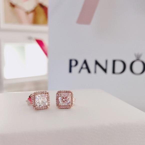 148f3f129 Pandora Jewelry   Timeless Elegance Stud Earrings Rose   Poshmark